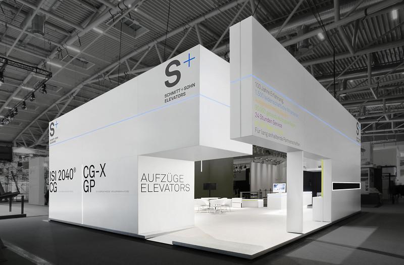Exhibition Stall Design Exhibition : Messestand schmitt sohn aufzüge bau münchen